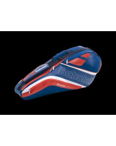 Babolat Racketholder X4 Badminton Team Line navy blue/red