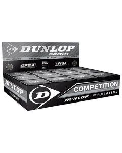 Dunlop Squashbal met enkel gele stip (competitiespeler)