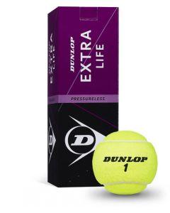 Dunlop Extra Life Pressureless tennisballen 3 stuks