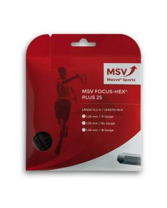 MSV Focus HEX PLUS 25 zwart 12m