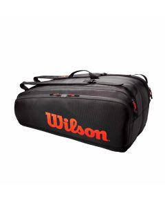 Wilson Tour 12 Bag Rood/zwart